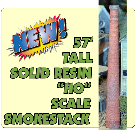 "57"" Tall Smokestack (HO)"