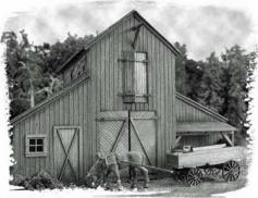 Barn At Jackson Corners HO Scale