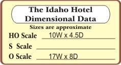 The Idaho Hotel (N/HO/S/O)