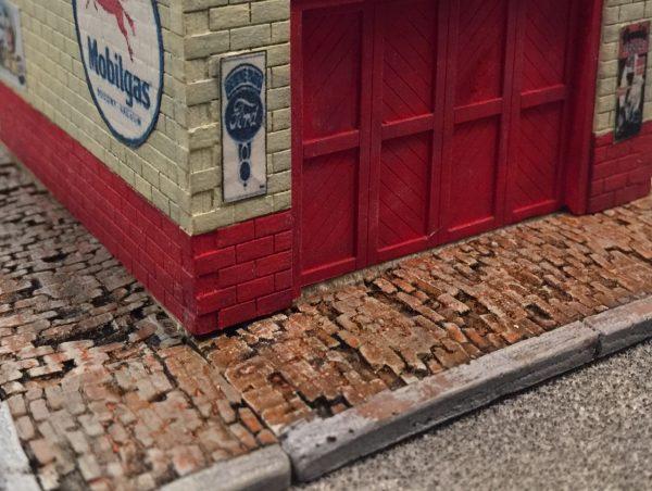 60' Weathered Brick Sidewalk